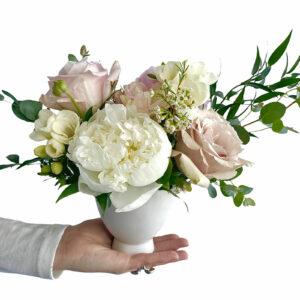 Mother's Day Soft Flower Vase Arrangement